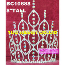 Хрустальный горный хрусталь шикарный элегантный rhinestone wedding tiara