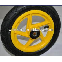 12 plastic bicycle wheels, 5 spoke bicycle wheel