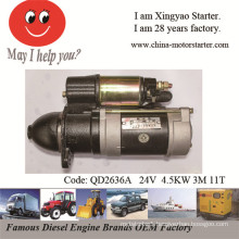 4.5kw 24V 3m 11t Starting Motor for Yangchai 4102q, 4105q