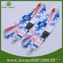 Lovecolour custom safety buckle printing polyester lanyard(wholesale price)