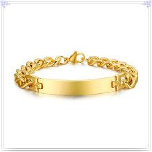 Pulsera de acero inoxidable pulsera de identificación de joyas de moda (HR158)