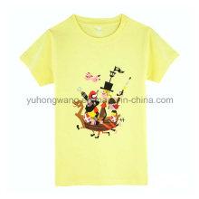 O t-shirt impresso do miúdo quente vendendo do algodão