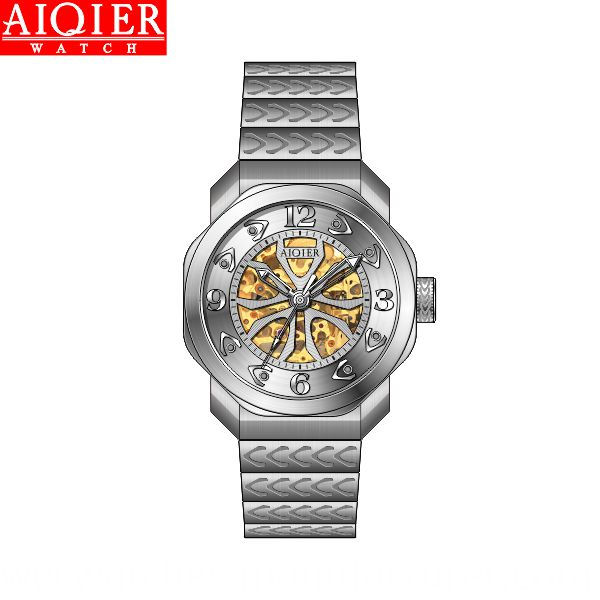 Skeleton automatic timpiece for men