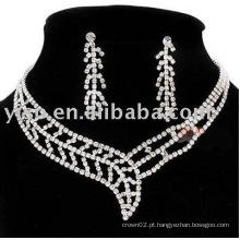 Jóias de noiva, conjunto de jóias de strass, jóias de casamento