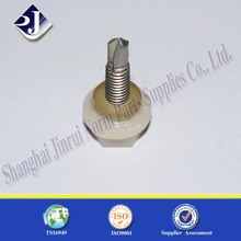 TEFLON Plastic hex flange drilling screw