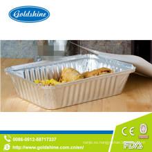Bandeja del horno de la tostadora del papel de aluminio de la calidad del SGS