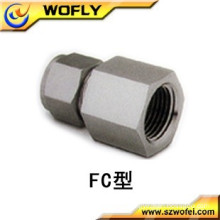 "Stainless Steel 316 3/8"" female npt x 1/4"" tube"