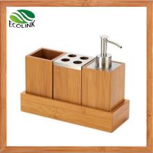 Bamboo Bathroom Accessories Bamboo Soap Dispensor Bathroom Set