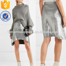 Asymmetric Sequined Tulle Mini Skirt Manufacture Wholesale Fashion Women Apparel (TA3041S)