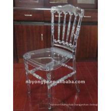 transparent resin napoleon chair