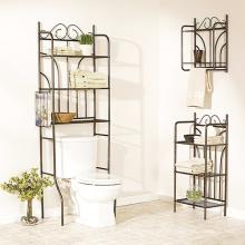 Sobre o armazenamento da prateleira do toalete do banheiro