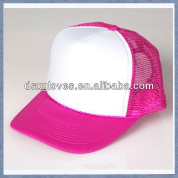 Rosa chapéu casual para jovens bonés de beisebol da menina