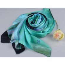 100% Seide Streifen Schal Fashion Silk Square Schal 150600100803