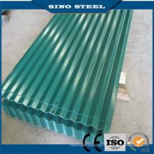 Hoja de techo de chapa de acero recubierto de color G60 Corrugated House