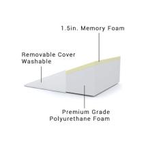 Almohada de espuma viscoelástica con cuña triangular