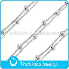 brazaletes de cuerda de acero inoxidable rosario encanto pulsera religiosa tendencias productos calientes