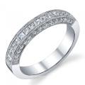 Art- und Weiseschmucksache-Silber-Band-Hochzeits-Silber-Schmucksache-Gold überzogen