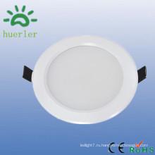 Горячее сбывание белый цвет тонкий вниз свет 100-240v 4 дюйма smd5730 вел ложные света потолка 9w