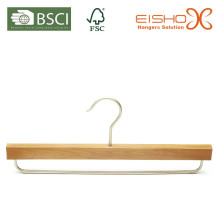Cabide de madeira natural com a barra de metal (mk27)