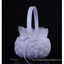 Elegant lace appliqued bridal party decoration wedding flower basket