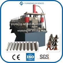 Passed CE und ISO YD-00055 Vollständige automatische SPS Steuerung Top Hat Purlin / Stahl / Kiel Profil Roll Forming Machine