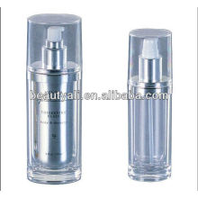 Oval acrylic cosmetic lotion bottle