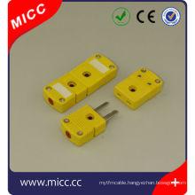nylon material flat pin miniature type K type thermocouple plug