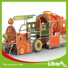 Équipement de terrain de jeux pour jardin, toboggan en plastique, aire de jeux extérieure pour enfants LE.PE.011