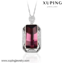 32606-xuping fashion silver color jewelry Crystals from Swarovski, amethyst pendant