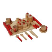 Tee Dim Sum Janpanese bolo de chá Wooden Pretend Play Toy Set