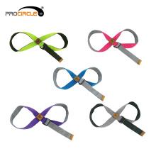 Sport de conception d'anneau Stretching Strap de yoga avec des boucles
