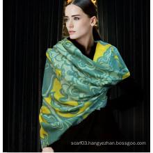 Custom Designed 100% Wool Scarf Wool Fabric