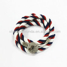 2013 New Hot Items Gifts Braided Cotton Constellation Bracelet With Button Manufactures&Suppliers&Factory