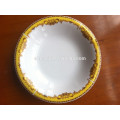 popular plato de sopa de porcelana omega, plato hondo