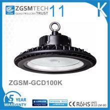 Lumière élevée industrielle de baie de forme ronde d'UFO 100W LED