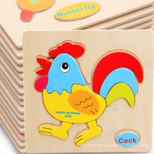 Juguete educativo de madera de la venta caliente de Ebay, rompecabezas animal mezclado del estilo