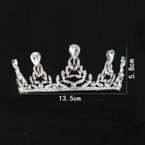 Diamantes de imitación únicos coronas de boda y tiaras