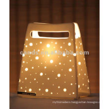 Creative Decorative Ceramic Hand bag Lamp