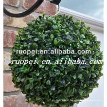 Buxus sintético bola topiary artificial buxo boxwood pendurado para decoração de jardim