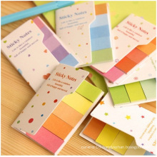 Promotional Creative Lovely Rainbow Sticky Notes with Hardcover. for Gift
