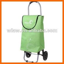 Aluminum folding shopping cart with wheels