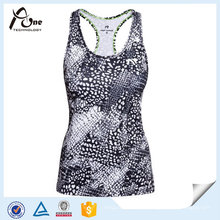 Vêtements de sport OEM Dry Fit Womens Printed Running Singlets