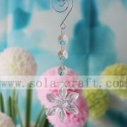 China candelabro acrílico flor de prismas transparentes para as luzes da decoração de Hall