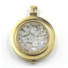 Floating Locket with Coin Plate for Necklace Pendant