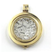 Locket flutuante com placa da moeda para o pendente da colar
