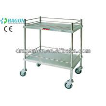 Chariot de médecine d'acier inoxydable de DW-TT201 fait en Chine