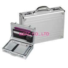 Travel Silver Aluminum Attache Briefcase For Women With Combination Lock