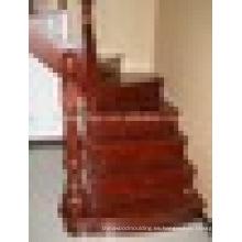 Escaleras rectas de roble macizo de lujo