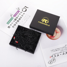 Black bluetooth earphone packing box with lid