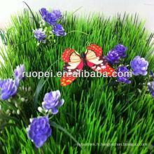 2014 vente chaude tapis d'herbe artificielle pas cher avec fleur